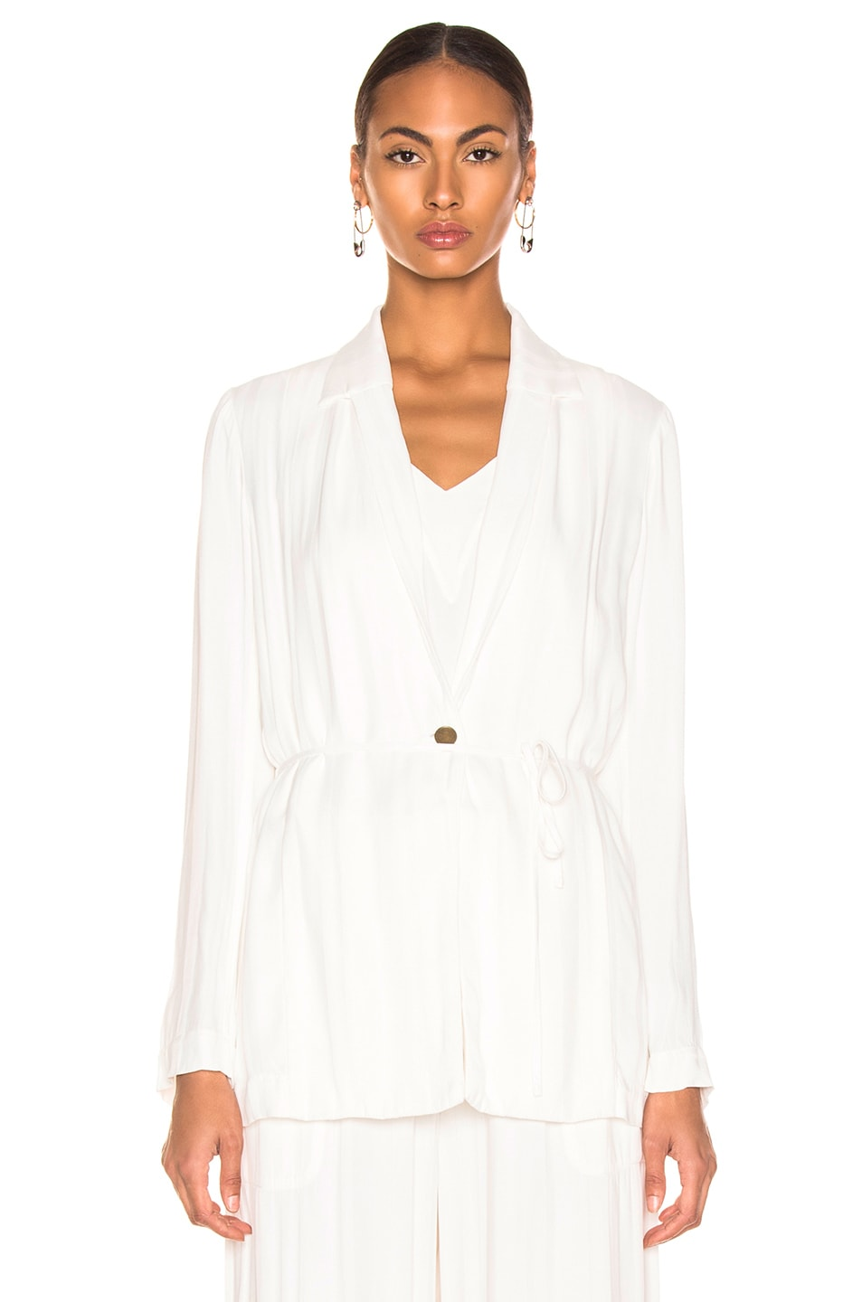 Image 2 of Raquel Allegra Relaxed Blazer in Ivory