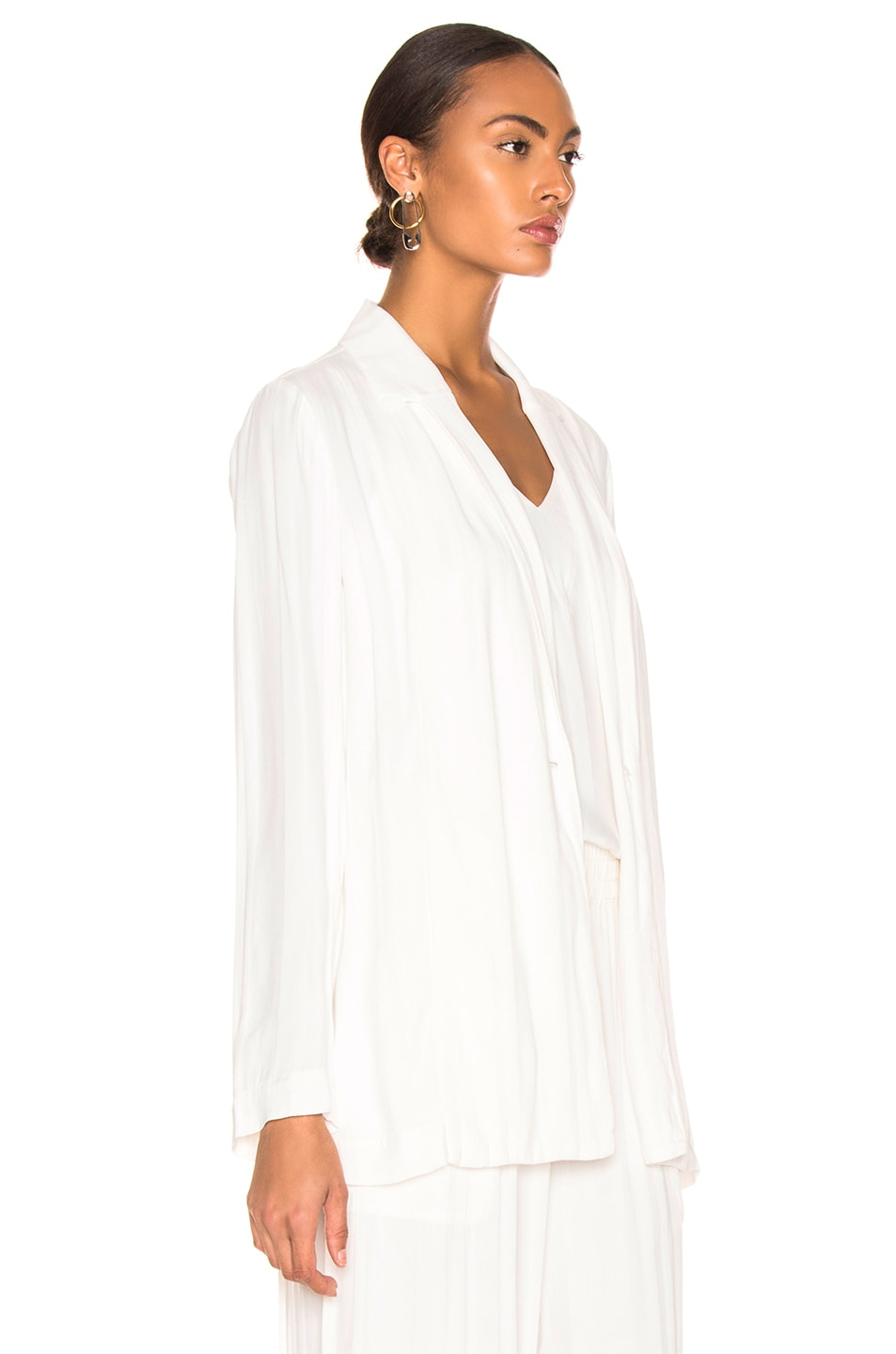 Image 3 of Raquel Allegra Relaxed Blazer in Ivory