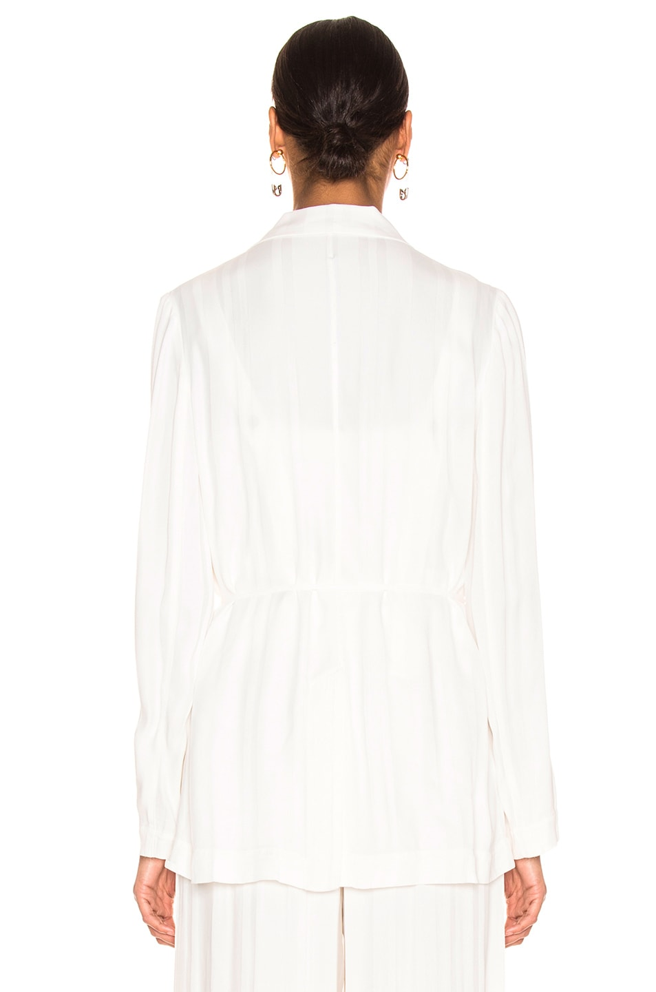 Image 4 of Raquel Allegra Relaxed Blazer in Ivory