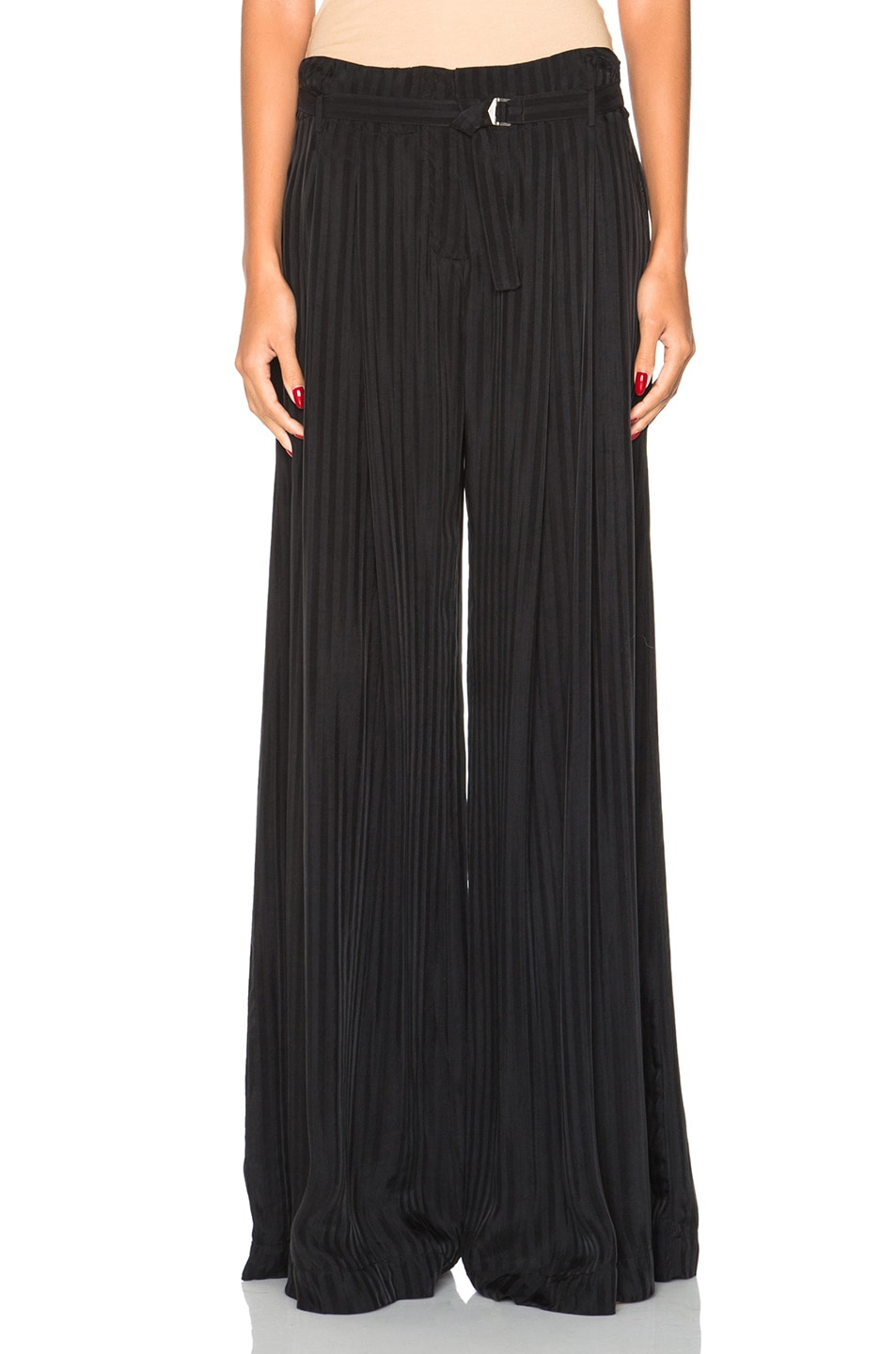 Image 1 of Raquel Allegra Palazzo Pants in Black
