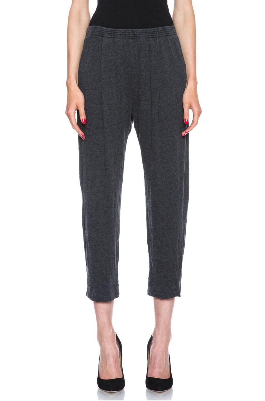 Image 1 of Raquel Allegra Deconstructed Jersey Trouser in Black