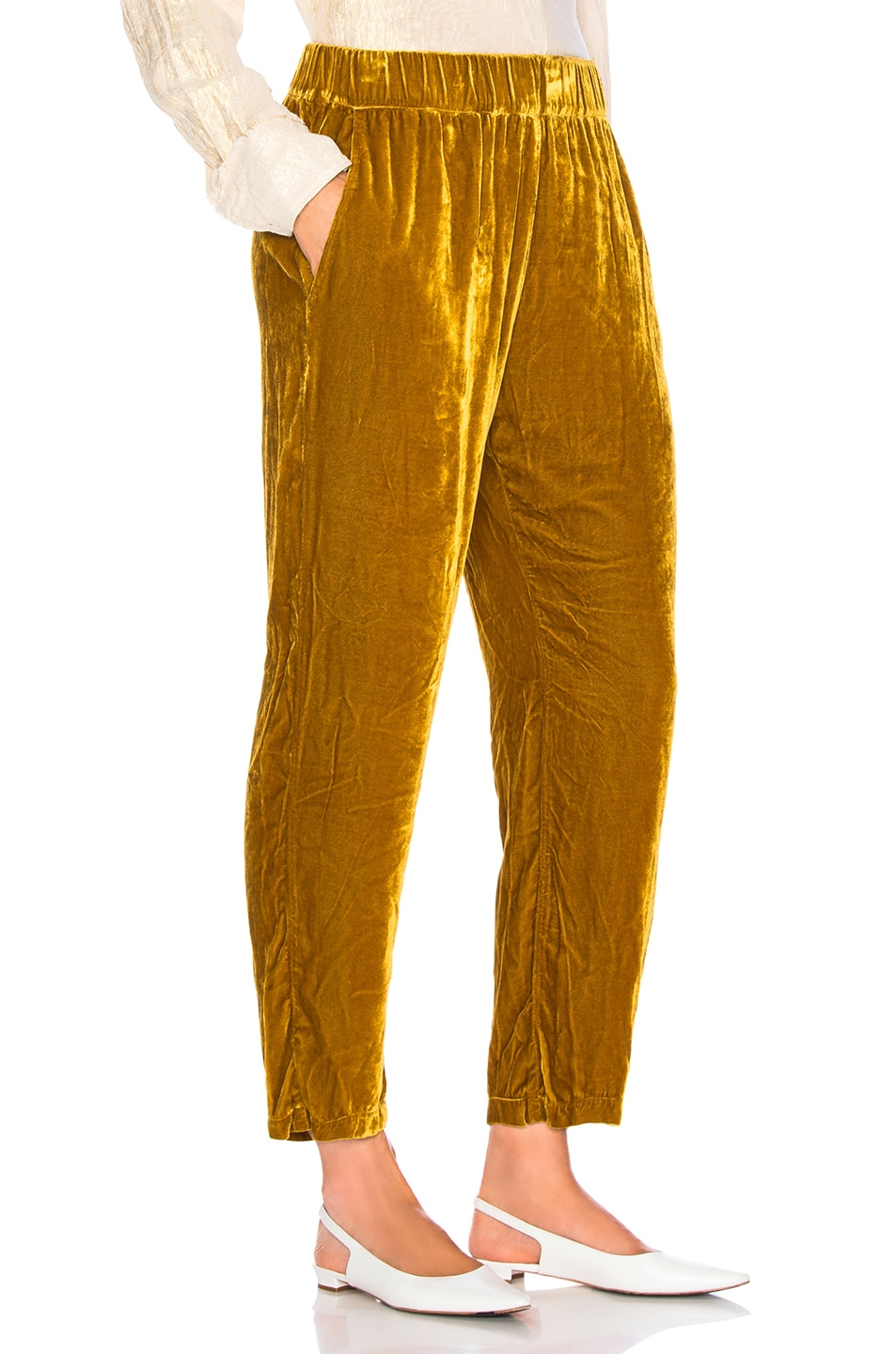 Image 2 of Raquel Allegra Ankle Pant in Gold