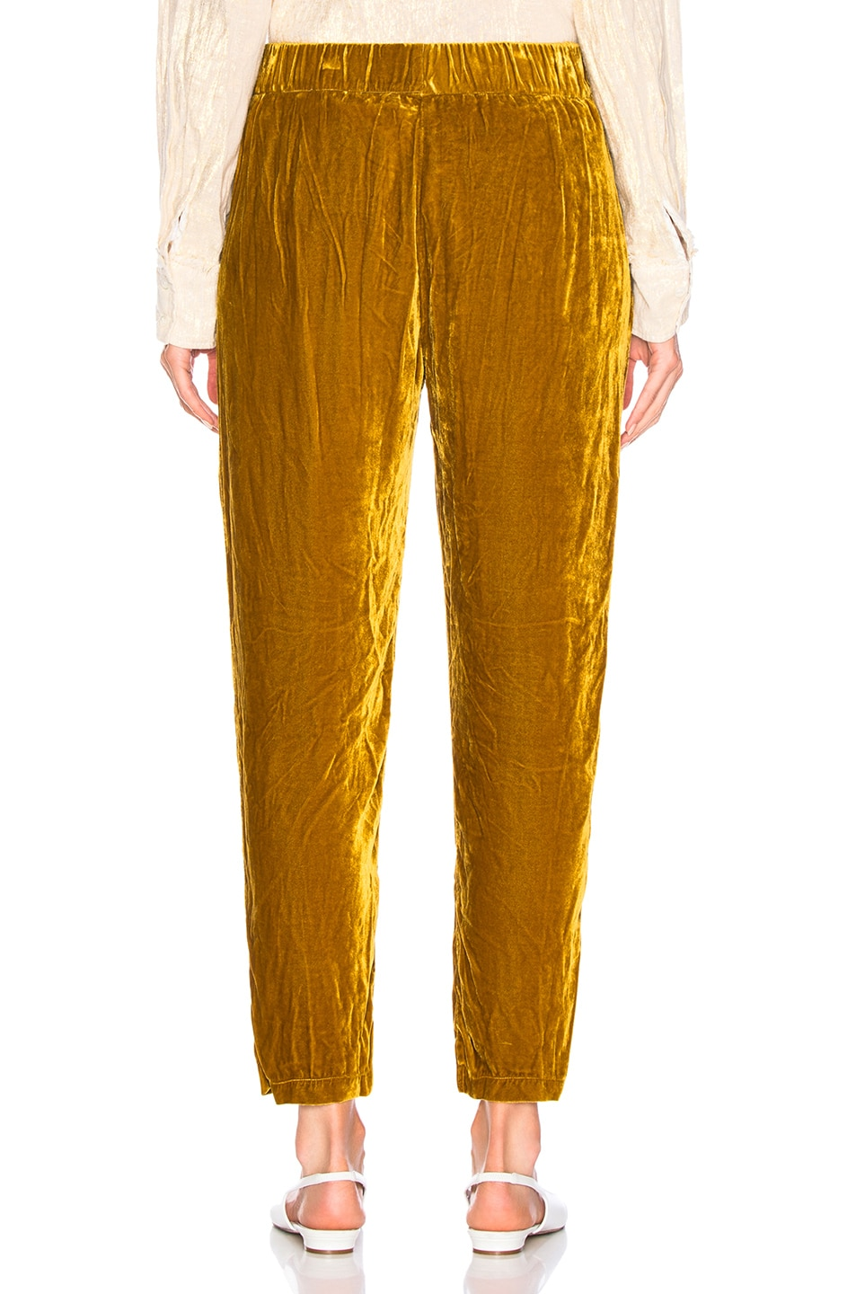 Image 3 of Raquel Allegra Ankle Pant in Gold