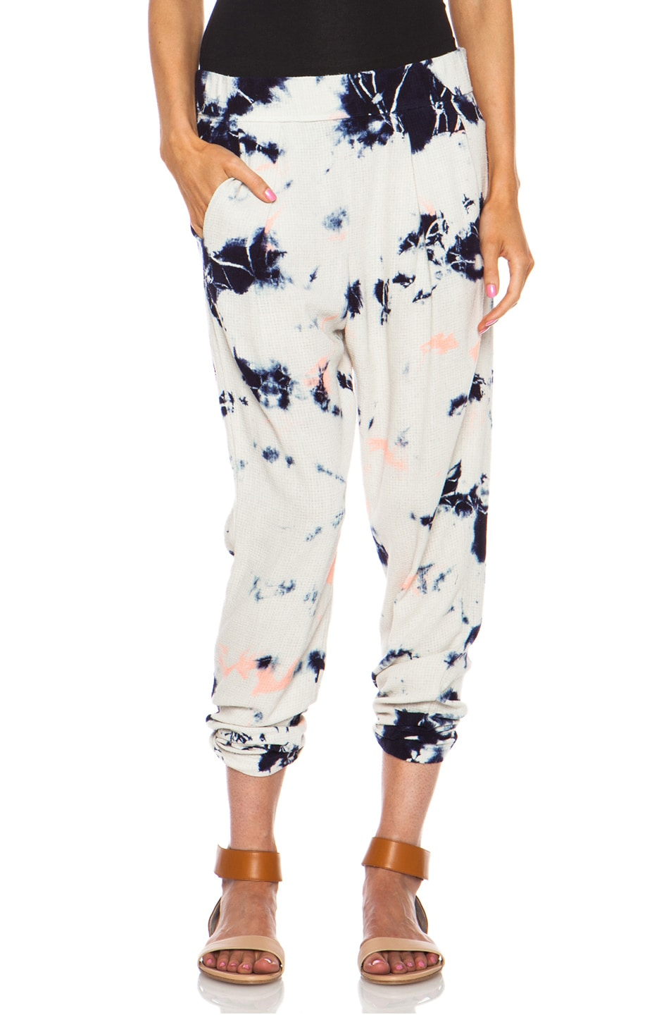 Image 1 of Raquel Allegra Easy Silk Pant in Cosmic Ivory
