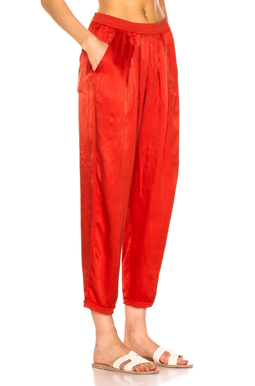 Image 2 of Raquel Allegra Satin Sweatpant in Red