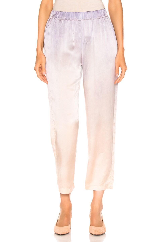 Image 1 of Raquel Allegra Ankle Pant in Silver Glow Tie Dye