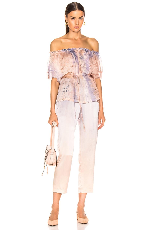 Image 4 of Raquel Allegra Ankle Pant in Silver Glow Tie Dye