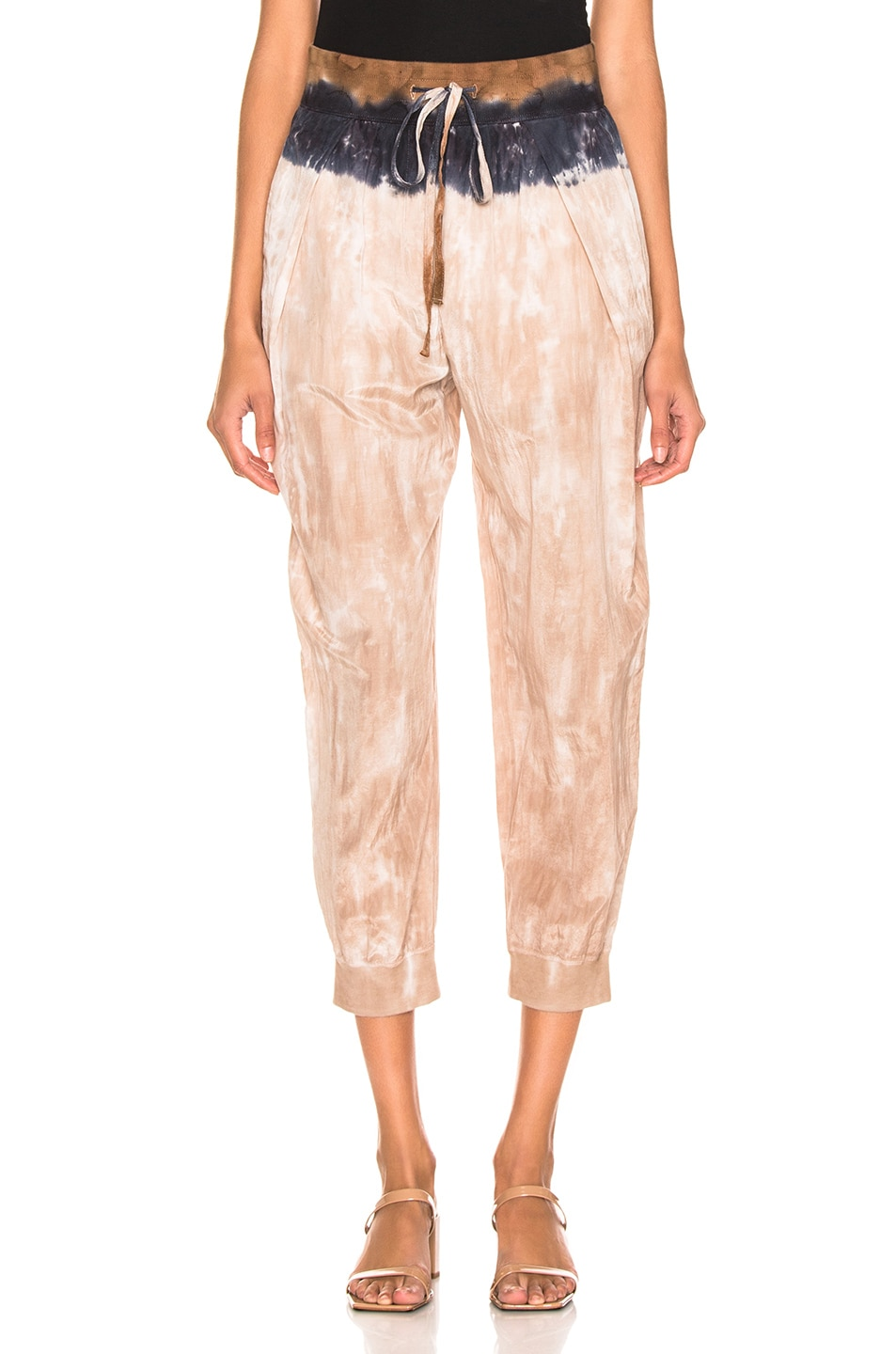 Image 1 of Raquel Allegra Drawstring Pant in Cave Stripe