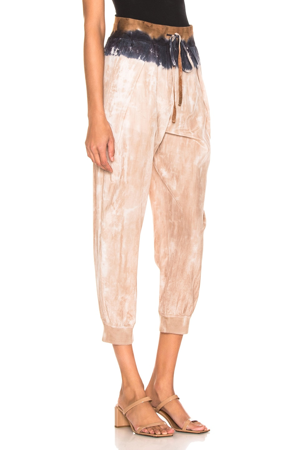 Image 2 of Raquel Allegra Drawstring Pant in Cave Stripe