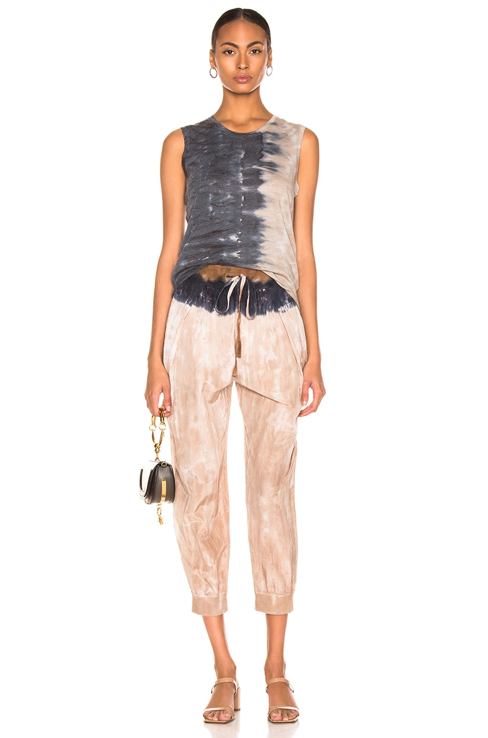 Image 4 of Raquel Allegra Drawstring Pant in Cave Stripe