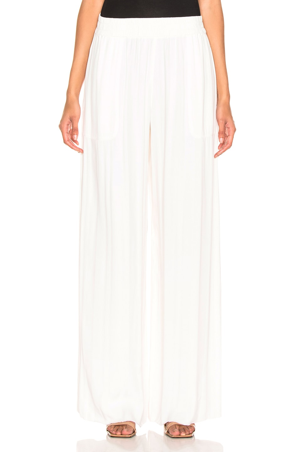 Image 1 of Raquel Allegra Wide Leg Pant in Ivory