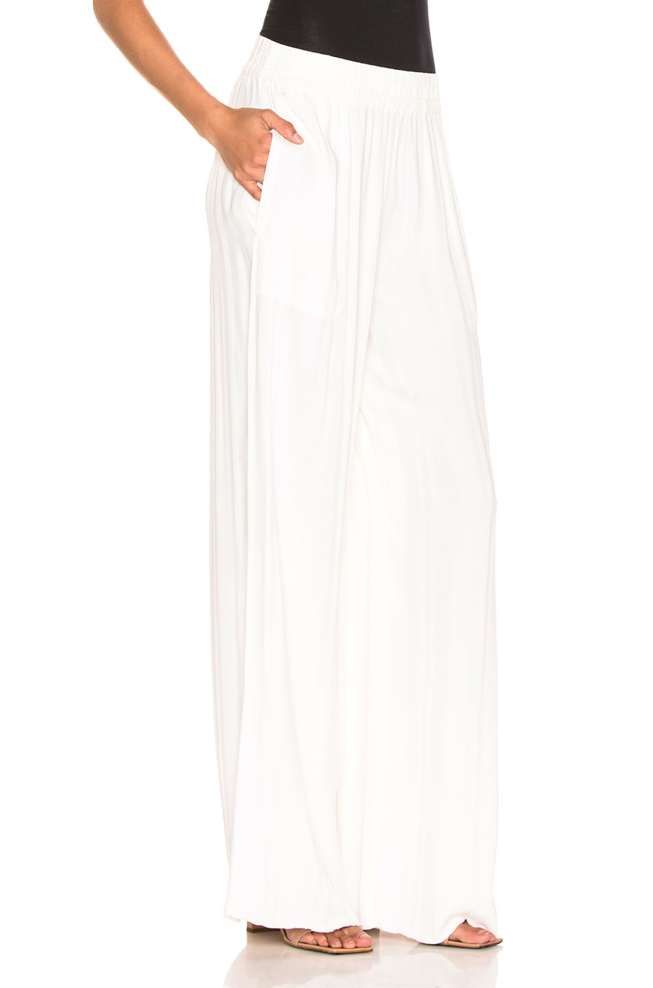 Image 2 of Raquel Allegra Wide Leg Pant in Ivory