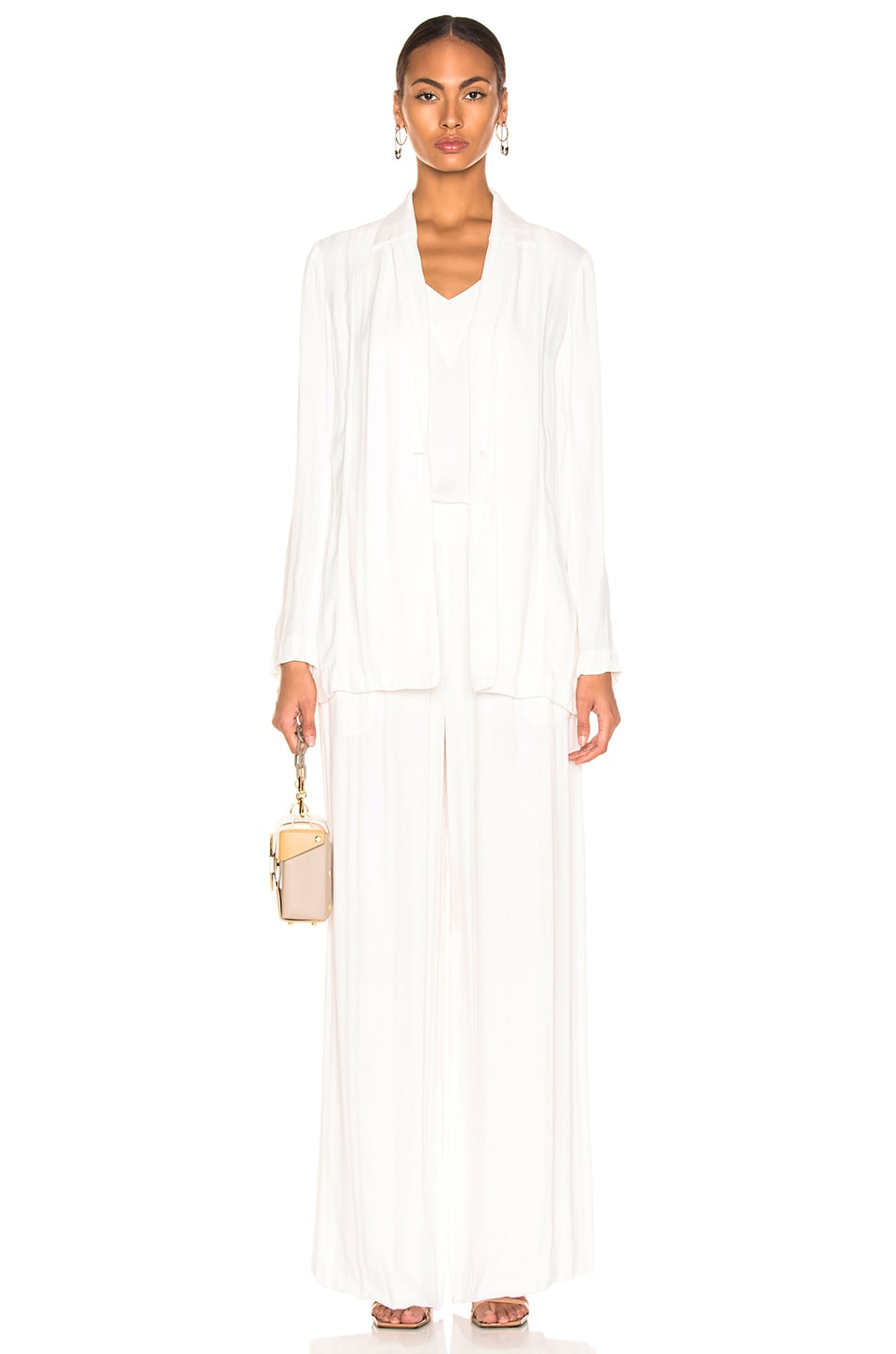 Image 4 of Raquel Allegra Wide Leg Pant in Ivory