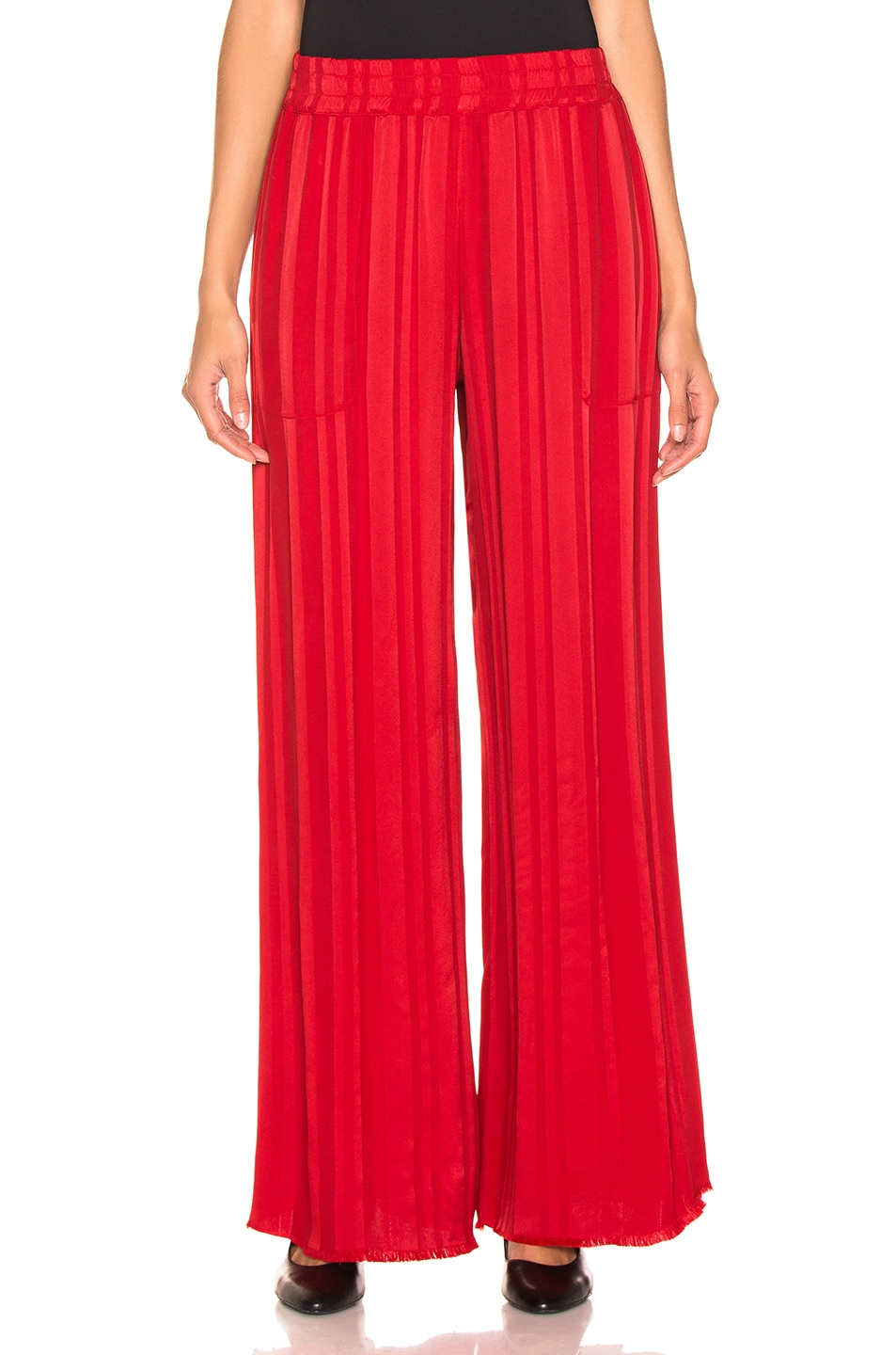 Image 1 of Raquel Allegra Wide Leg Pant in Tomato