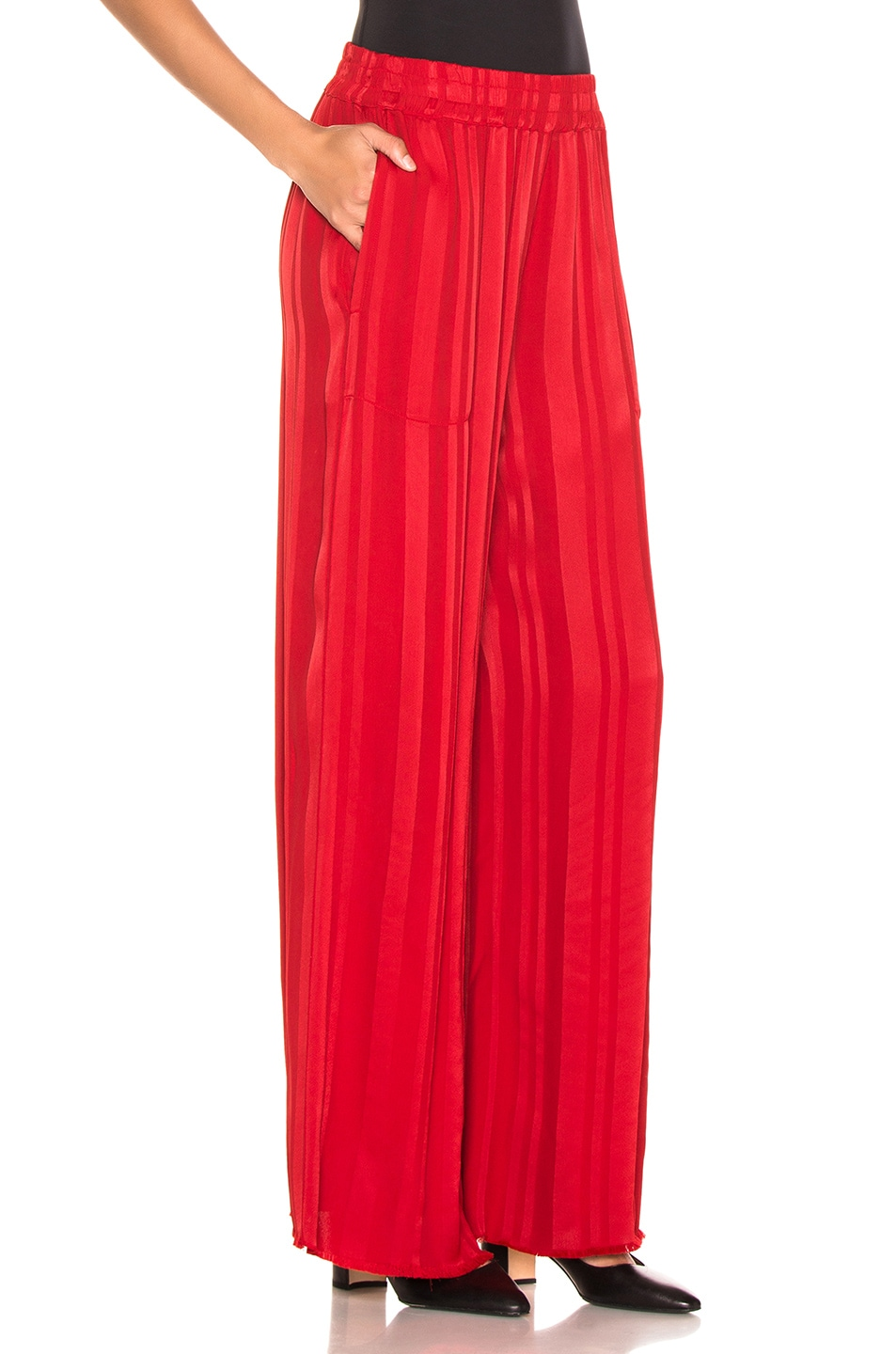 Image 2 of Raquel Allegra Wide Leg Pant in Tomato