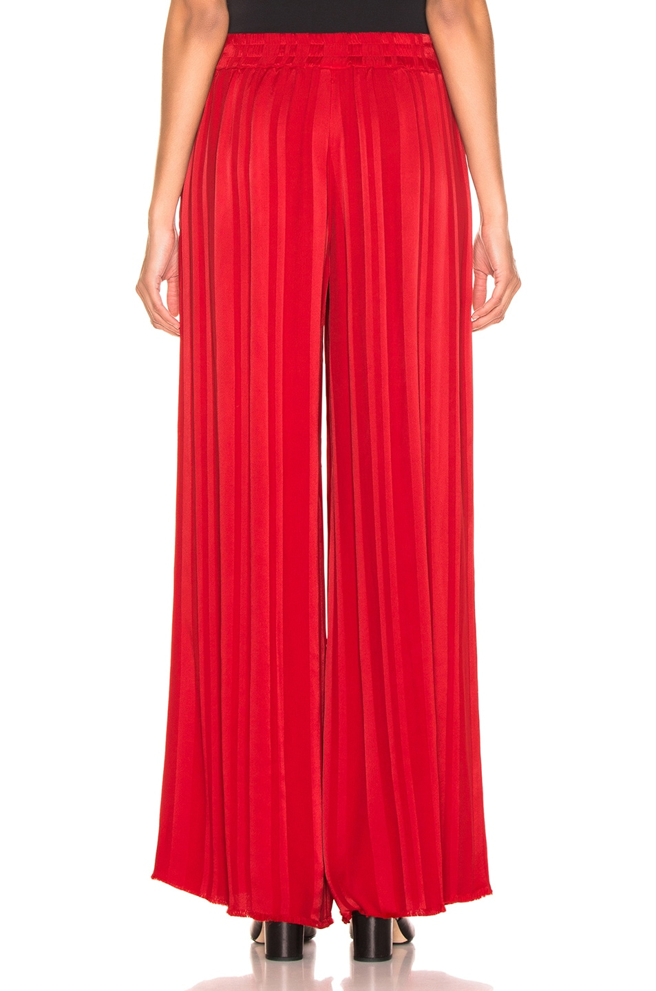Image 3 of Raquel Allegra Wide Leg Pant in Tomato