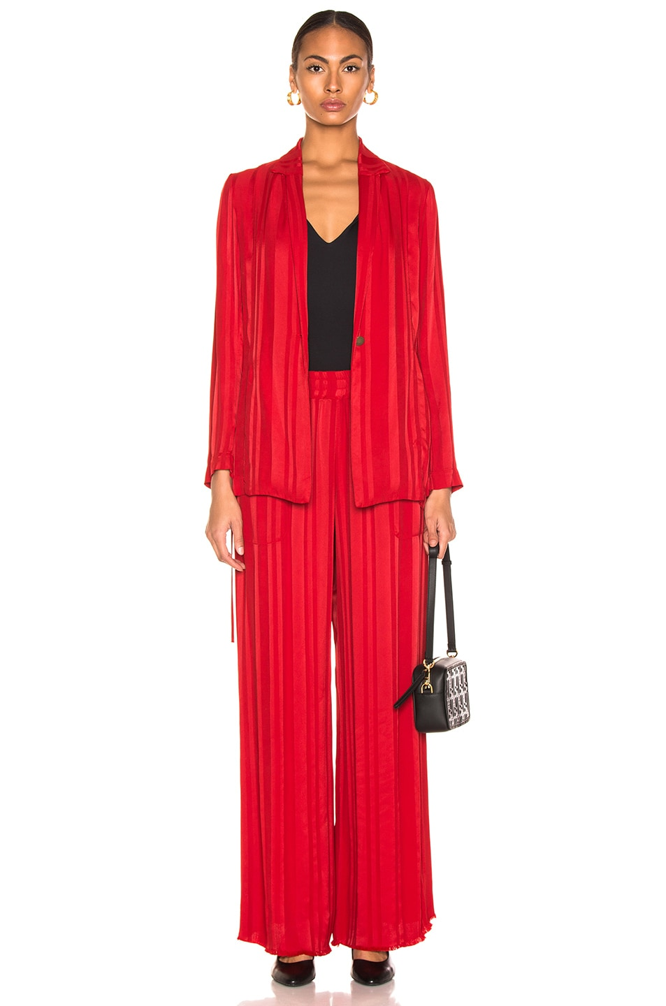 Image 4 of Raquel Allegra Wide Leg Pant in Tomato