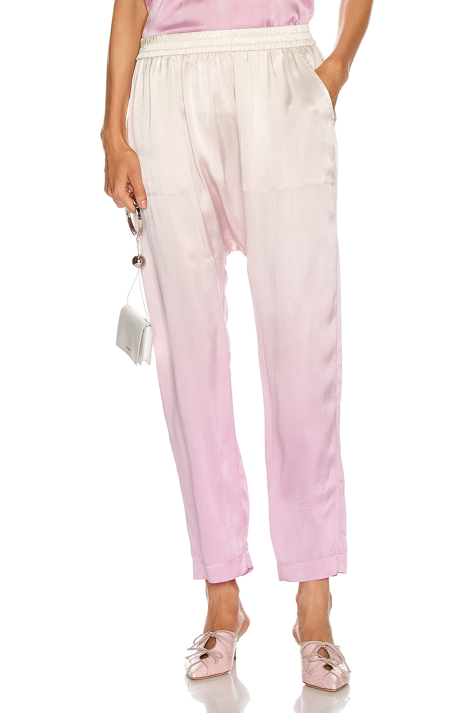 Image 1 of Raquel Allegra Sunday Pant in Orchid Tie Dye