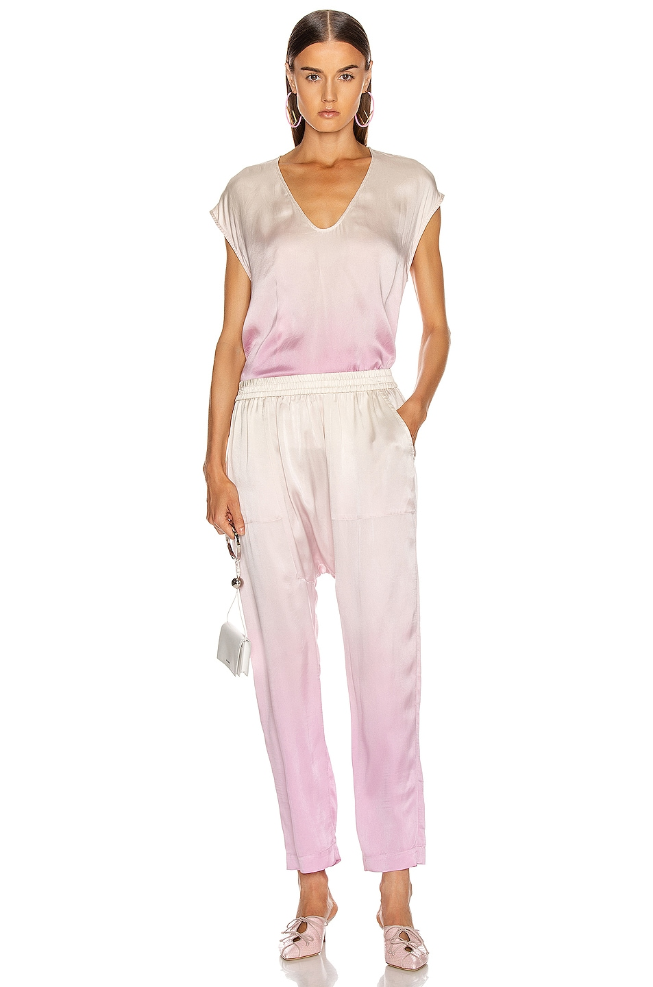 Image 4 of Raquel Allegra Sunday Pant in Orchid Tie Dye