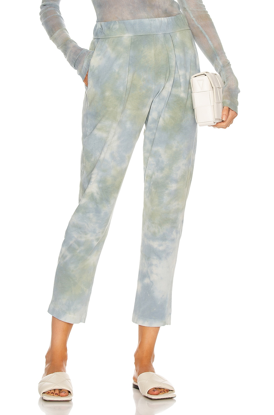 Image 1 of Raquel Allegra Easy Pant in Sky Camo Tie Dye