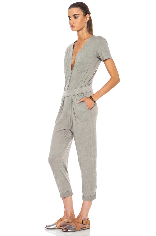 Image 2 of Raquel Allegra Work Wear Cotton-Blend Jumpsuit in Grey