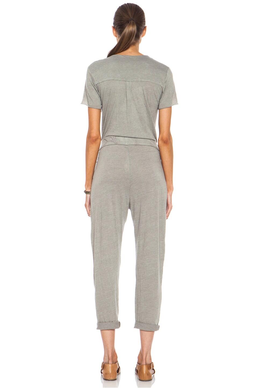 Image 4 of Raquel Allegra Work Wear Cotton-Blend Jumpsuit in Grey