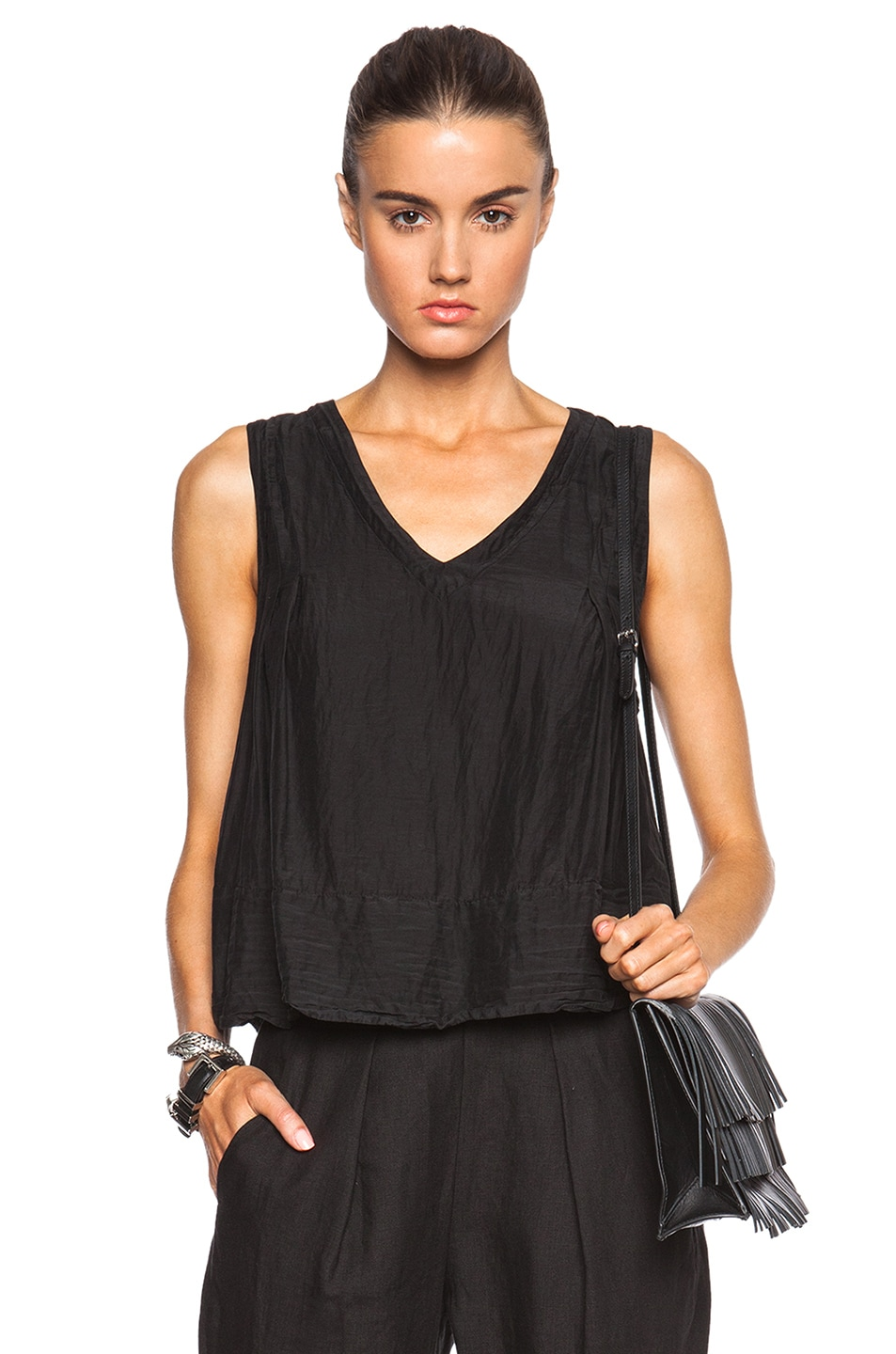 Image 1 of Raquel Allegra Trapeze Top in Black