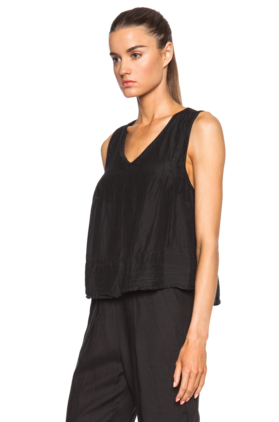Image 2 of Raquel Allegra Trapeze Top in Black
