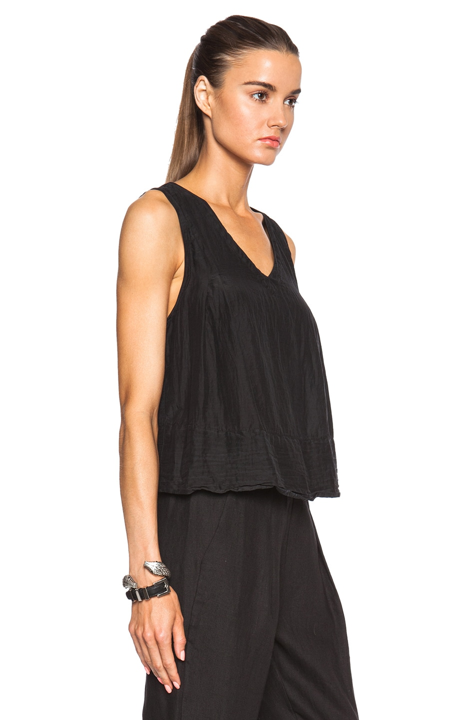 Image 3 of Raquel Allegra Trapeze Top in Black