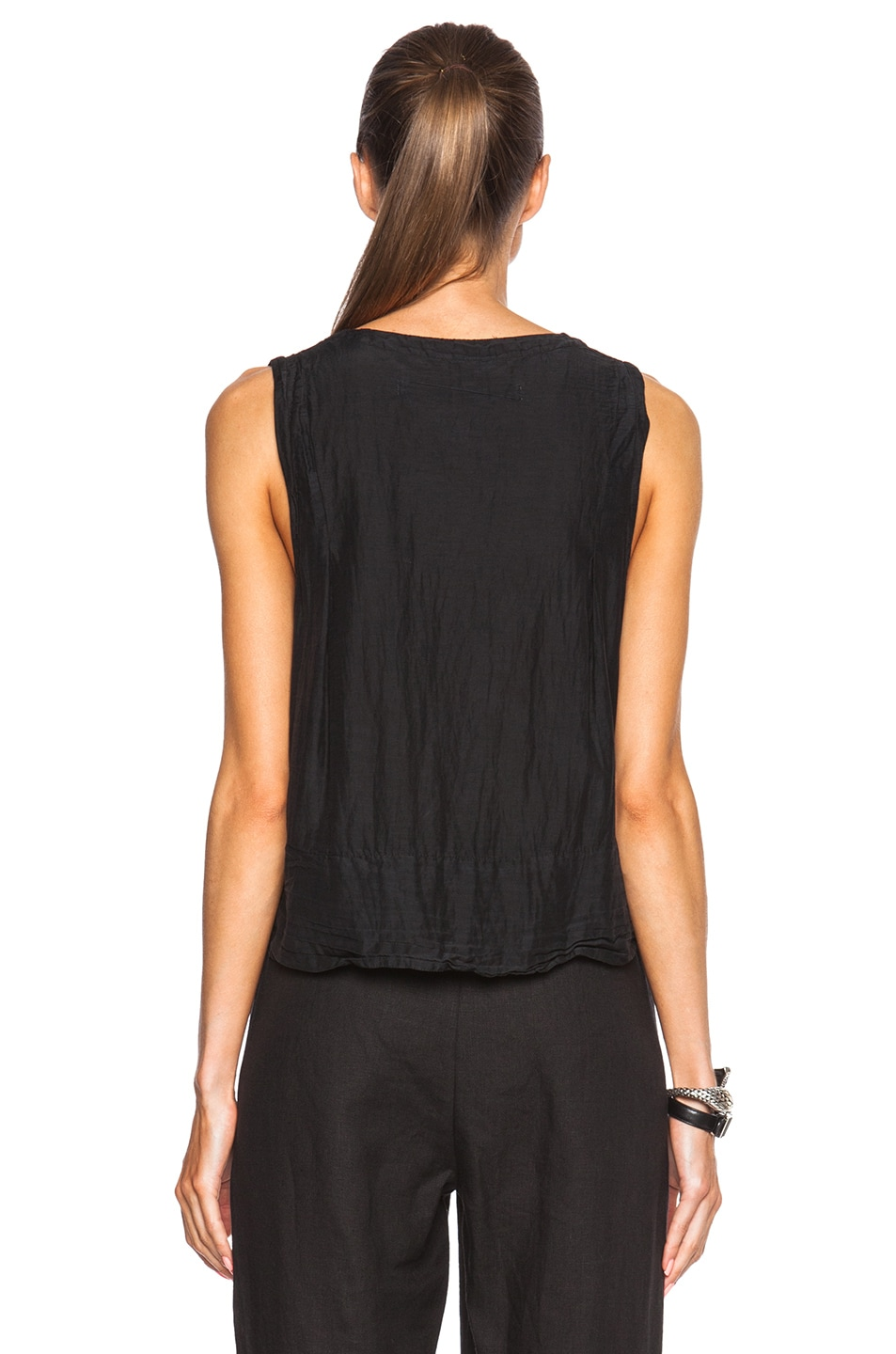 Image 4 of Raquel Allegra Trapeze Top in Black