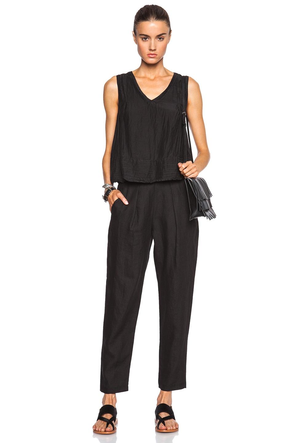 Image 5 of Raquel Allegra Trapeze Top in Black
