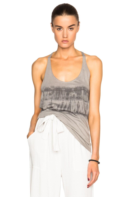 3056633f7e66c3 Image 1 of Raquel Allegra T Back Tank Top in Grey Tie Dye