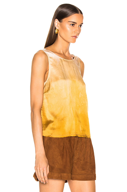 Image 2 of Raquel Allegra Low Back Tank in Golden Sun Tie Dye