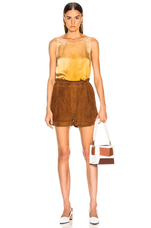 Image 4 of Raquel Allegra Low Back Tank in Golden Sun Tie Dye