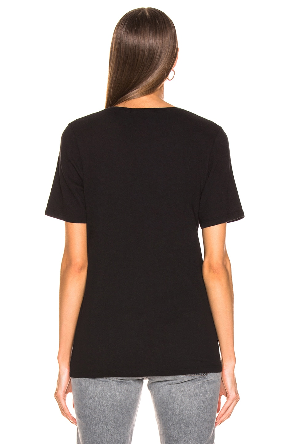 Image 3 of Raquel Allegra Boxy Tee in Black