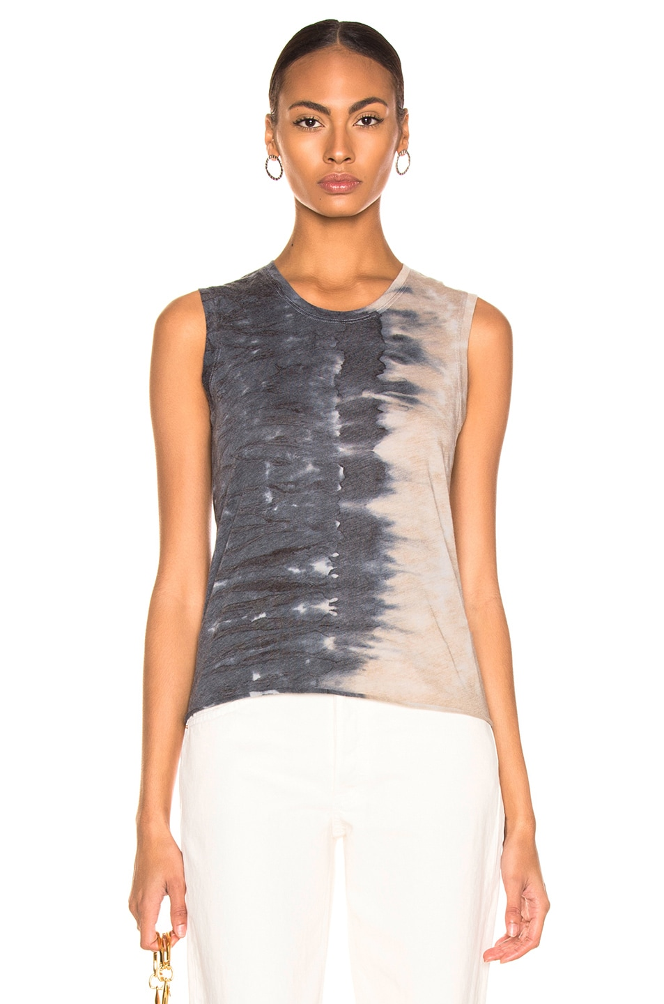 Image 1 of Raquel Allegra Fitted Muscle Tee in Caves Tie Dye