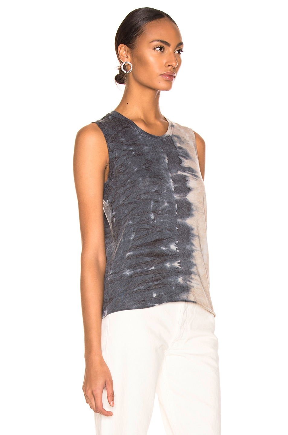 Image 2 of Raquel Allegra Fitted Muscle Tee in Caves Tie Dye