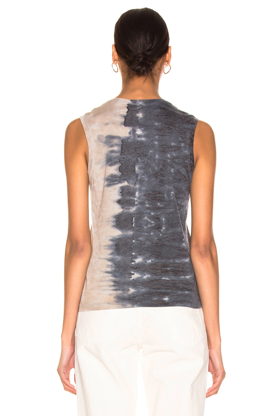 Image 3 of Raquel Allegra Fitted Muscle Tee in Caves Tie Dye