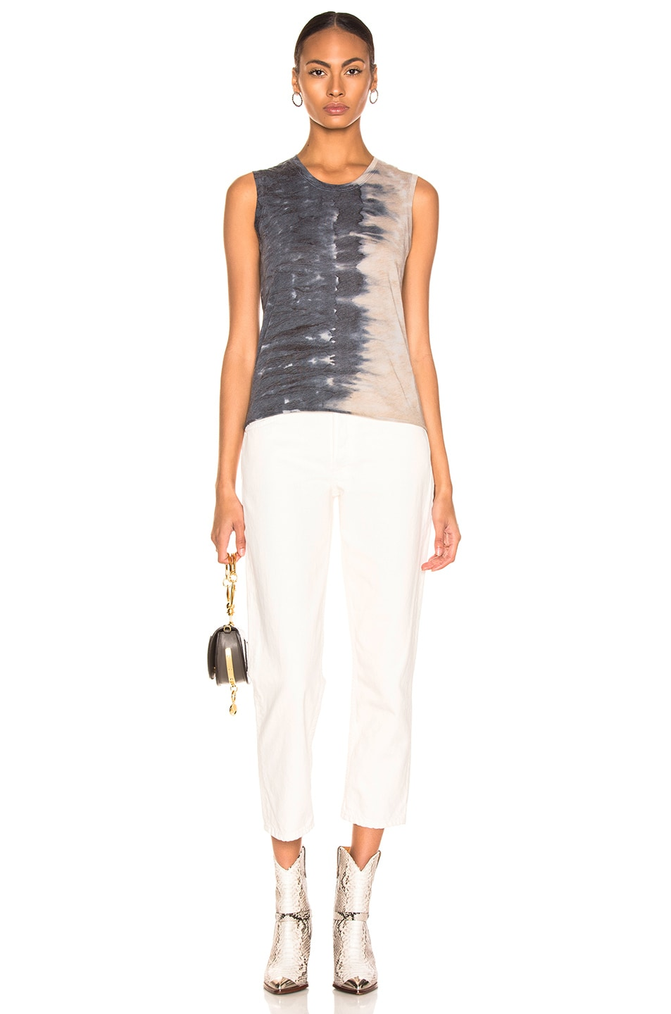 Image 4 of Raquel Allegra Fitted Muscle Tee in Caves Tie Dye