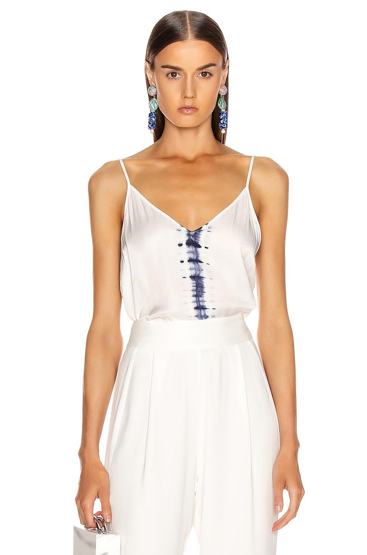 Image 1 of Raquel Allegra Little Cami in White Tie Dye