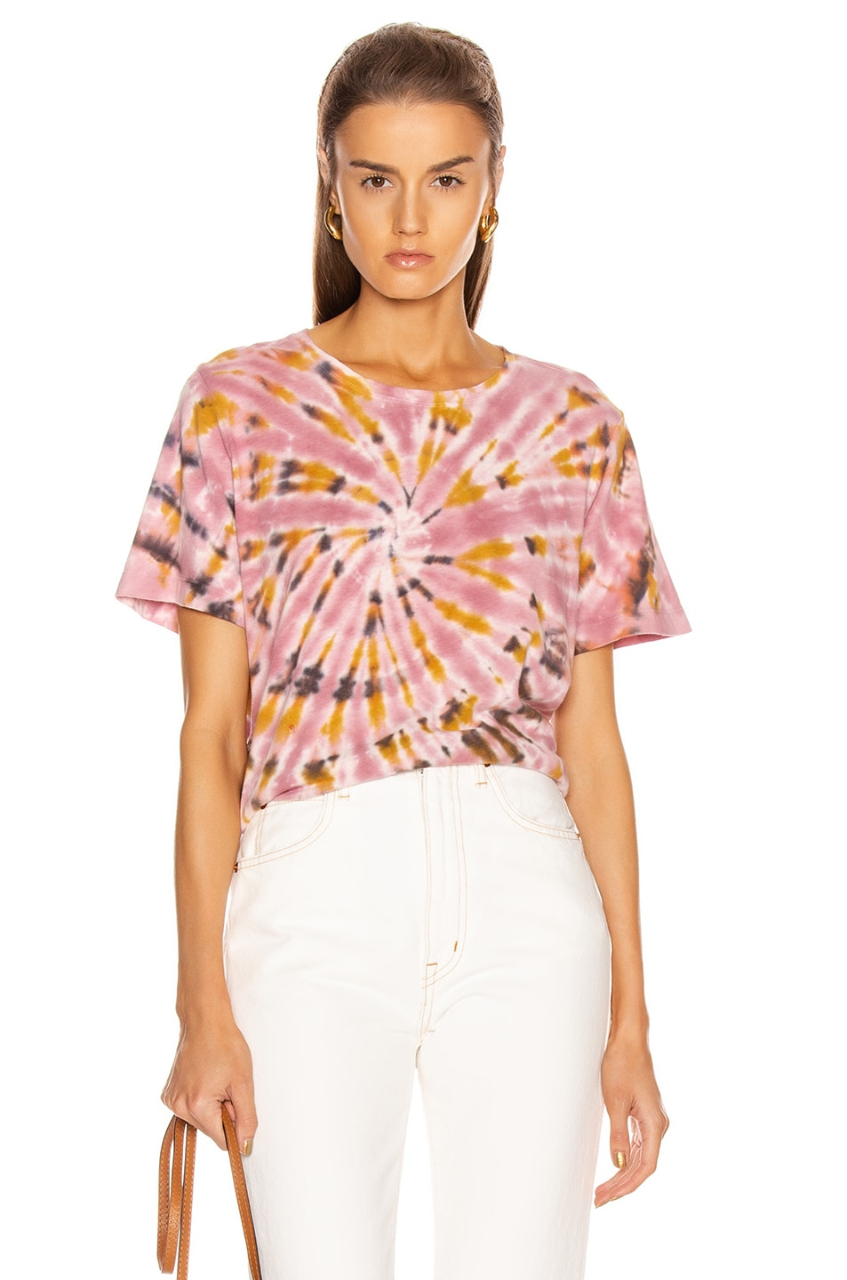 Image 1 of Raquel Allegra Boxy Tee in Pink Eclipse