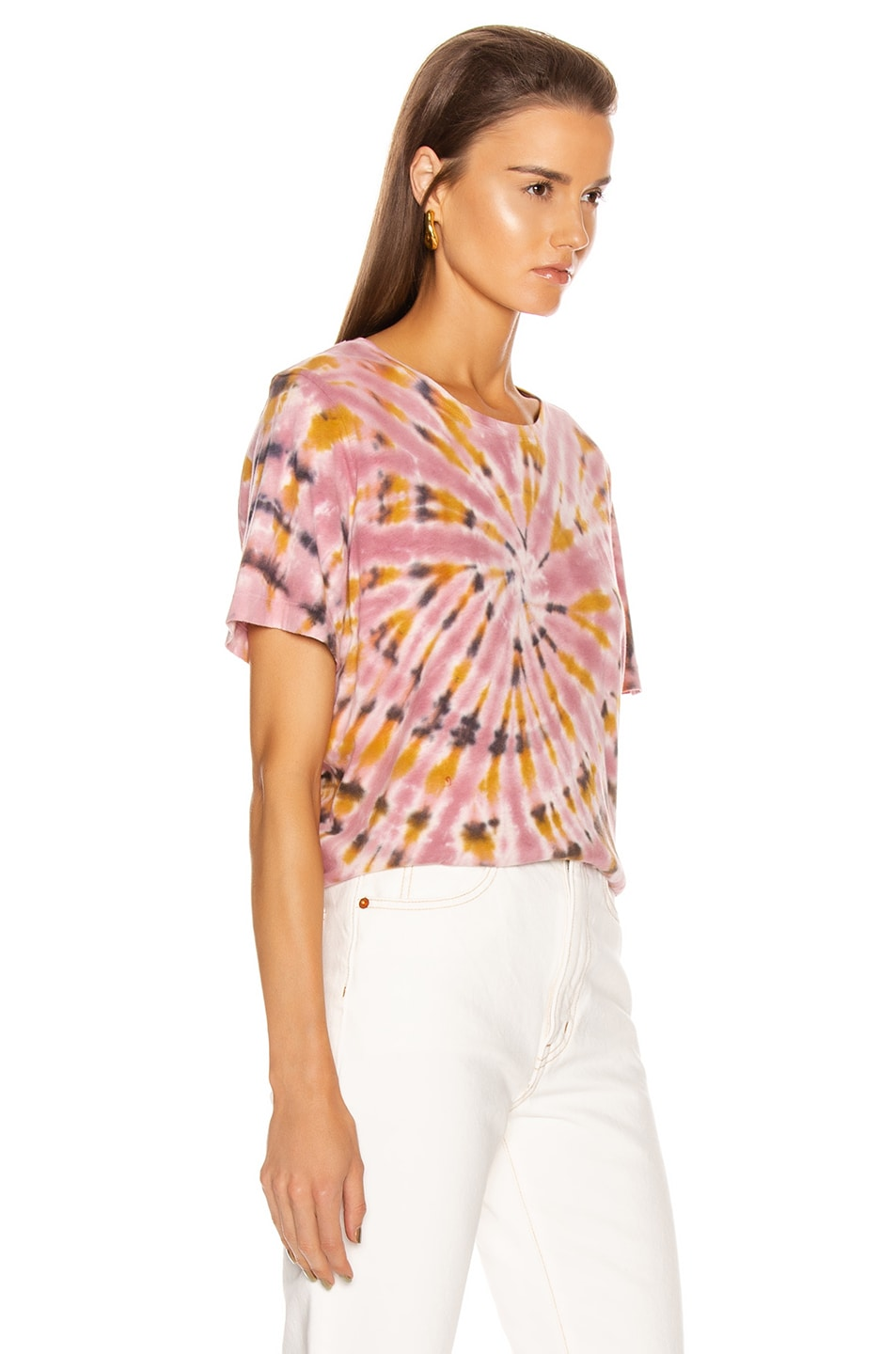 Image 2 of Raquel Allegra Boxy Tee in Pink Eclipse