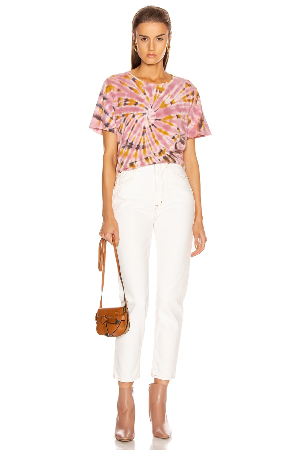 Image 4 of Raquel Allegra Boxy Tee in Pink Eclipse