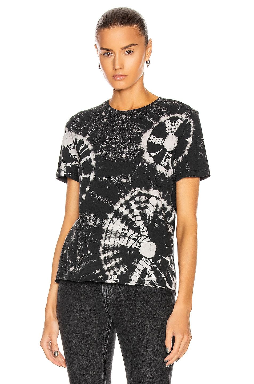 Image 2 of Raquel Allegra Boy Tee in Black Constellation Tie Dye