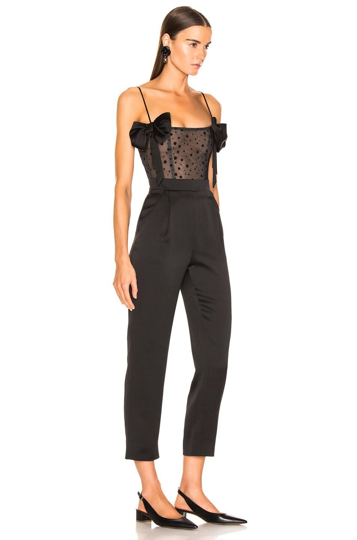 Image 2 of RASARIO Polka Dot Jumpsuit in Black
