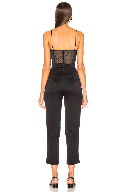 Image 3 of RASARIO Polka Dot Jumpsuit in Black