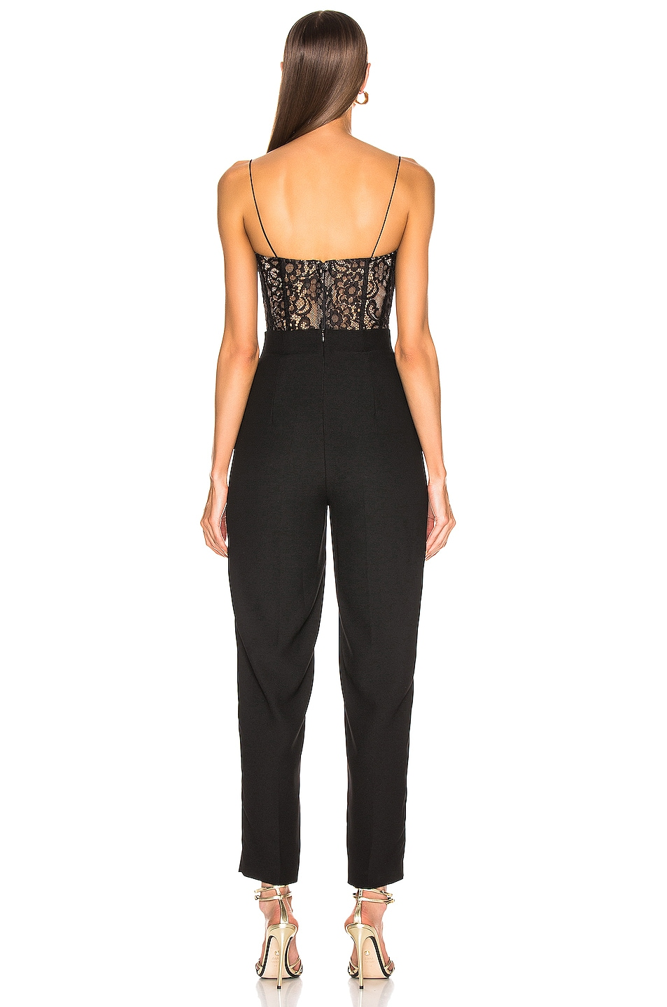Image 3 of RASARIO Lace Jumpsuit in Black
