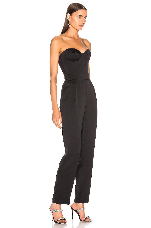 Image 2 of RASARIO Sweetheart Corset Jumpsuit in Black