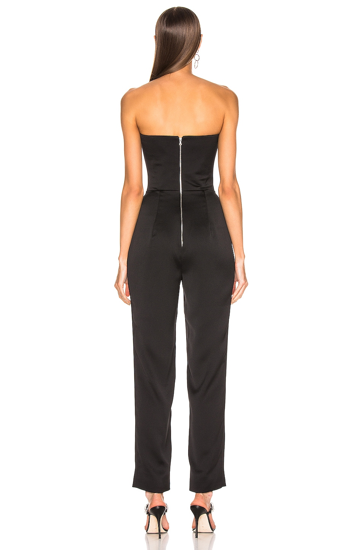 Image 3 of RASARIO Sweetheart Corset Jumpsuit in Black