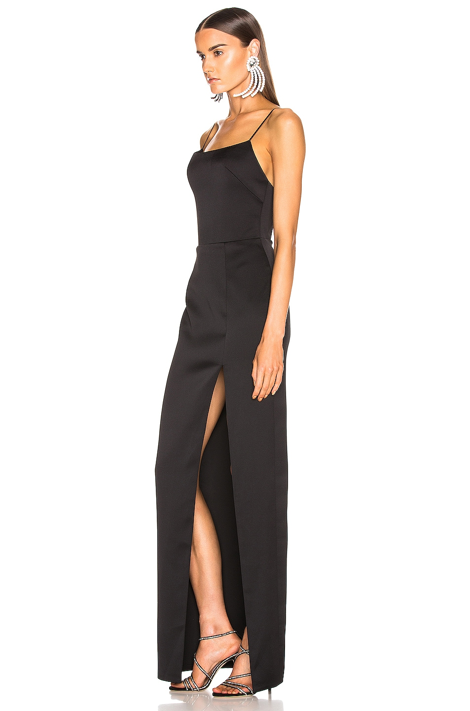Image 3 of RASARIO Front Split Gown in Black